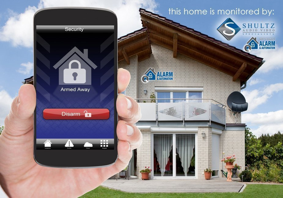 Home Security System Designed and Installed by Shultz Audio Video and North County Alarm