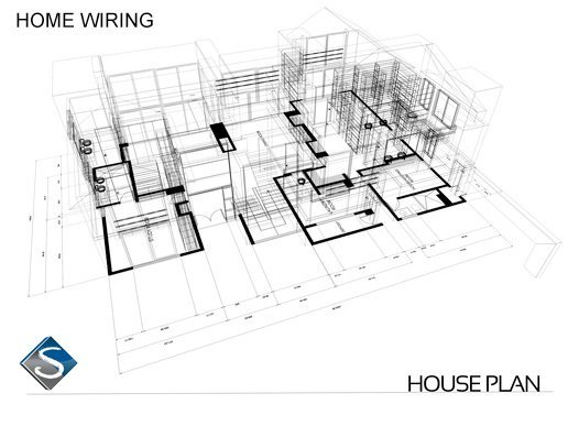 Home Wiring Plan home wiring, home automation san diego san diego home av home automation wiring diagram at bakdesigns.co