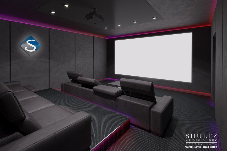 home theater room design shultz audio video - Home Theater Room Design