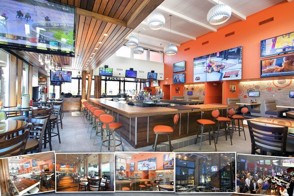 A picture of multiple Video Distribution systems for Sports Bars
